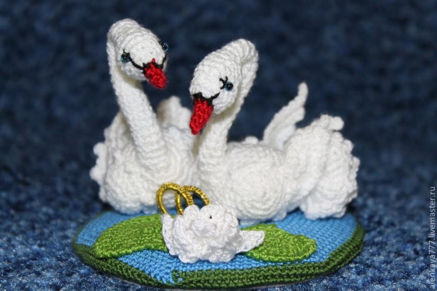 лебеди фото вязаные крючком