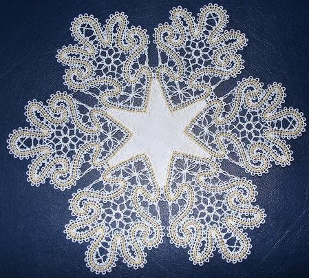 Cotton Belgian lace doilies and lace placemats