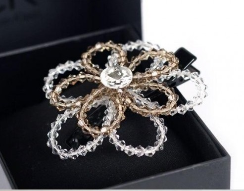 How to make Beaded Crystal Flower step by step
