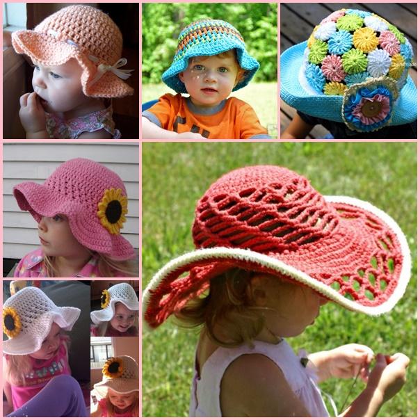 Crochet-Sun-Hats-free-pattern-wonderfuldiy
