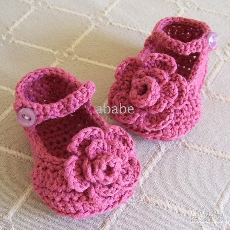 Mandela-1Pair-crochet-baby-girl-first-walker-shoes-flower-booties-100-cotton-yarn-mix-design-custom