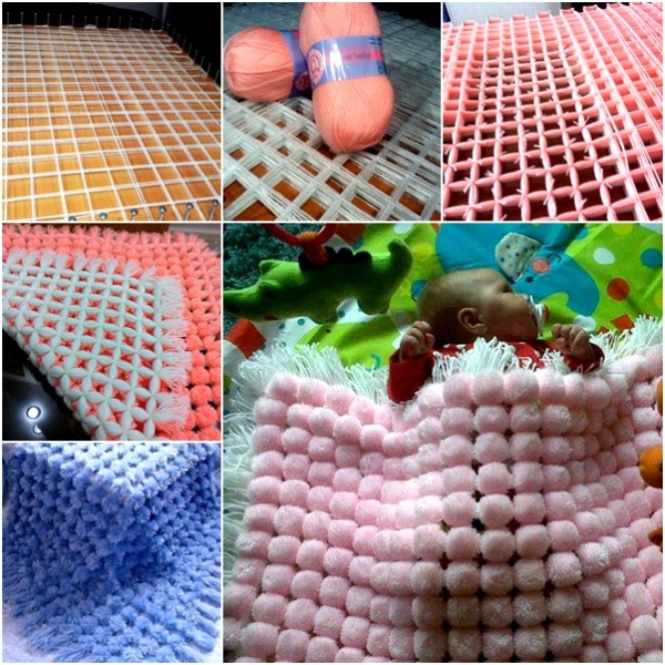 How to DIY Easy and Fun Pom Pom Blanket