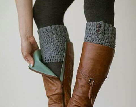 Knitted Boot Cuffs! Perfect for cold weather