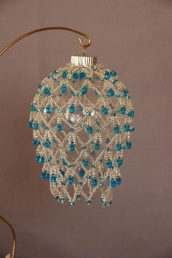 Beaded Fancy Fringed Ornament Cover Beading