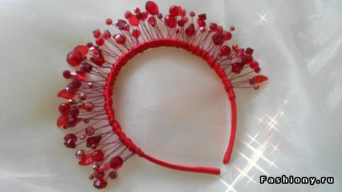 Hair band of beads and beads. Master Class