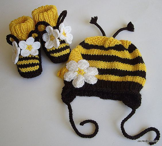 Baby bee hat crochet